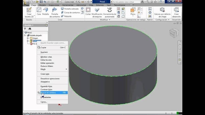 modelo 3d de un archivo dxf en un software cad