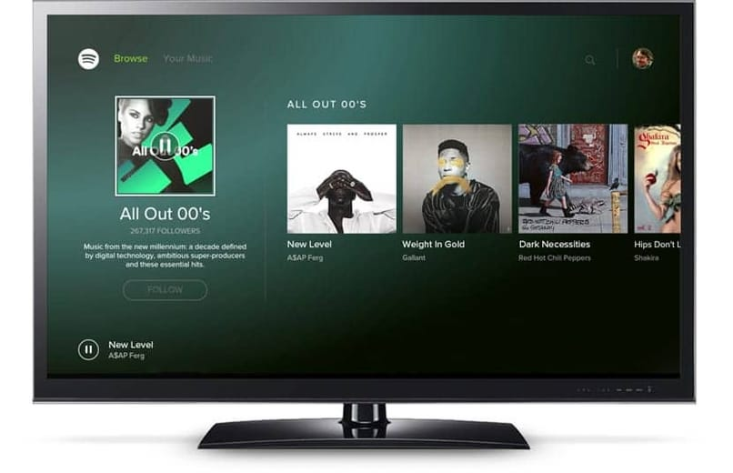 smart tv stays on the logo