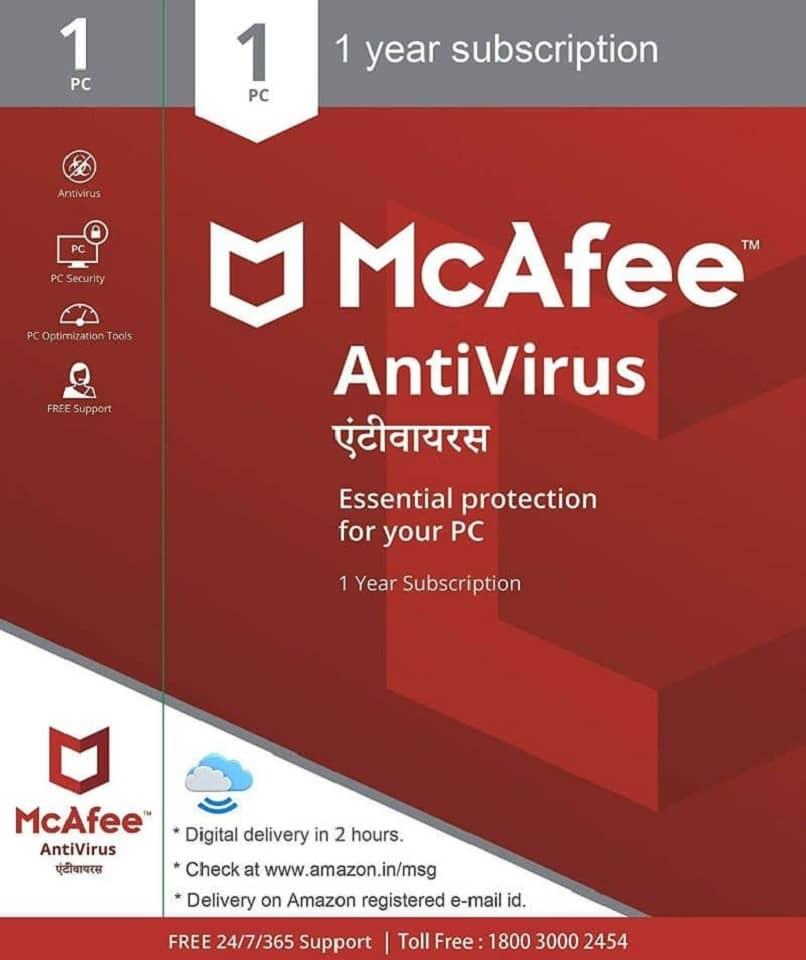paquete antivirus mcafee