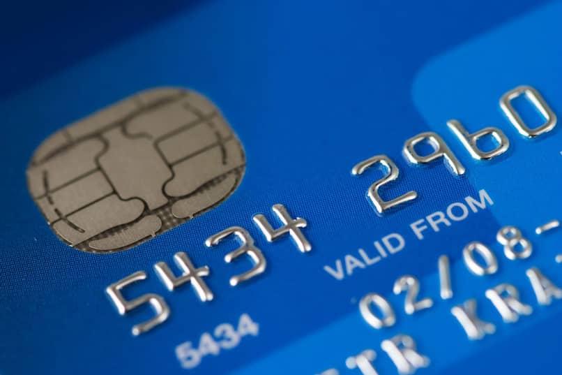 tarjeta de debito azul