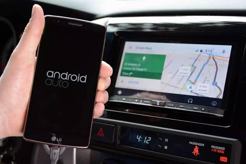 instalar conectar android auto telefono