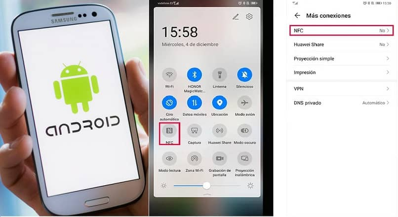nfc conexion android