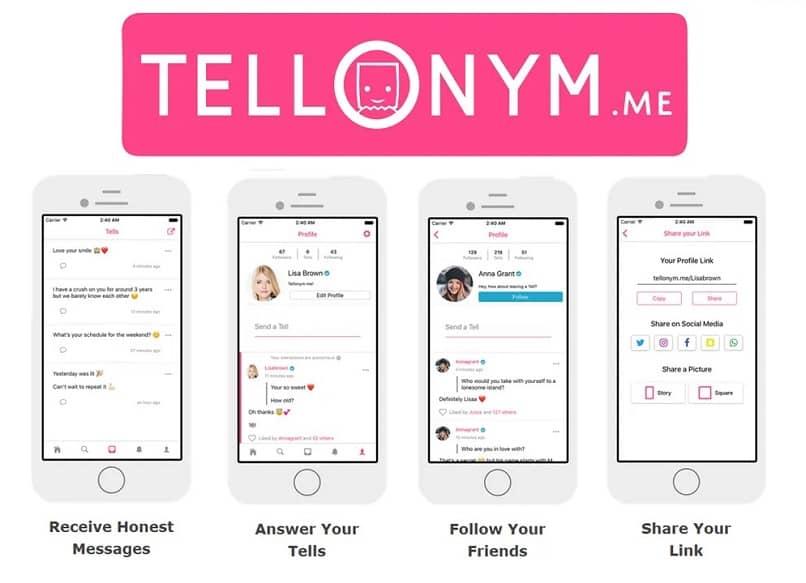 aplicacion mensajeria tellonym