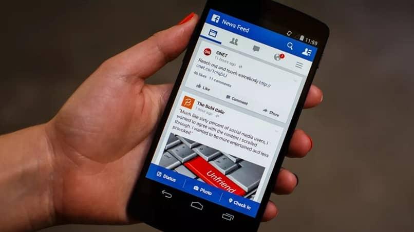 telefono facebook app