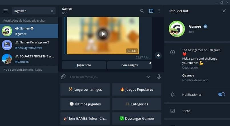 bots juegos telegram