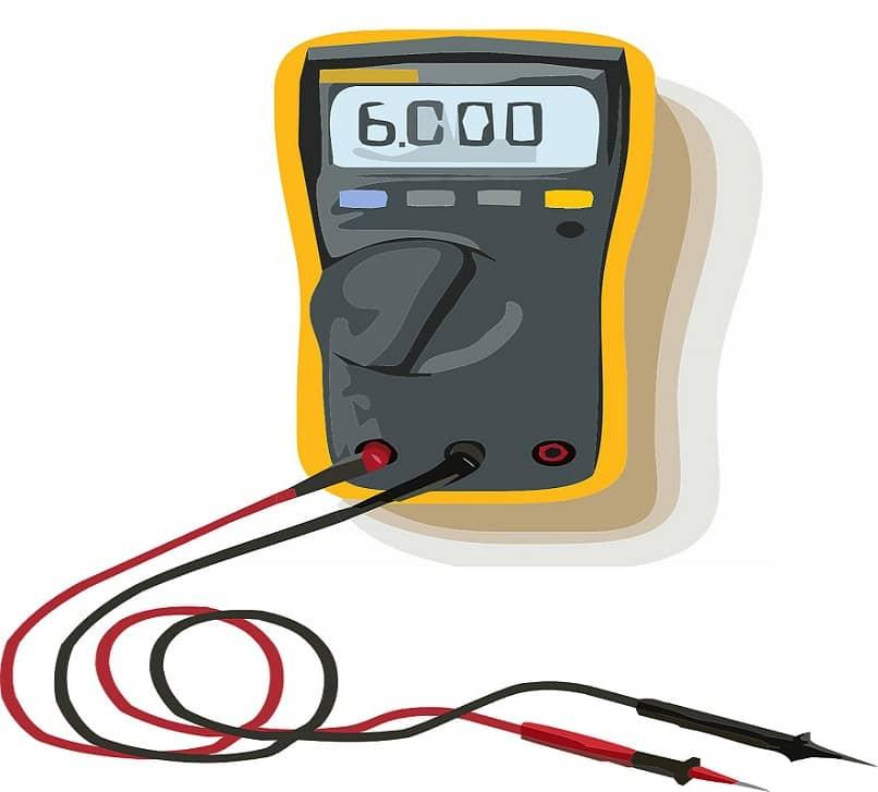 vista de herramienta tester para medir voltaje