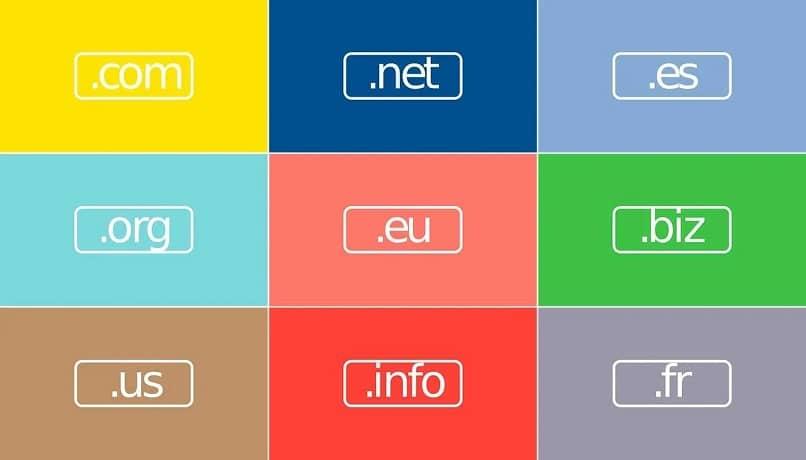 dominios web tipos