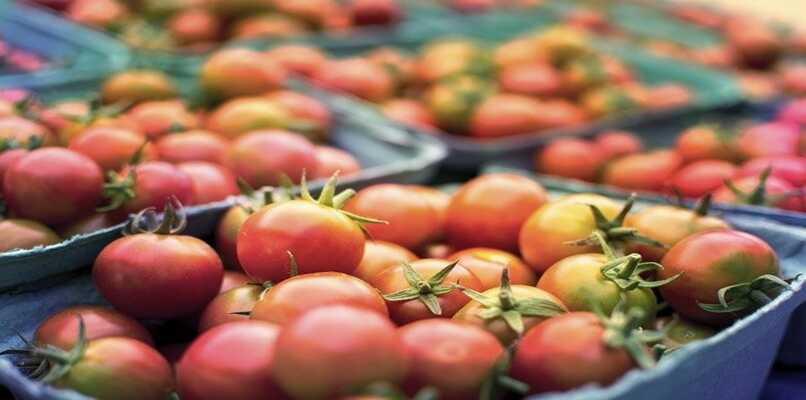 verduras en un mercado