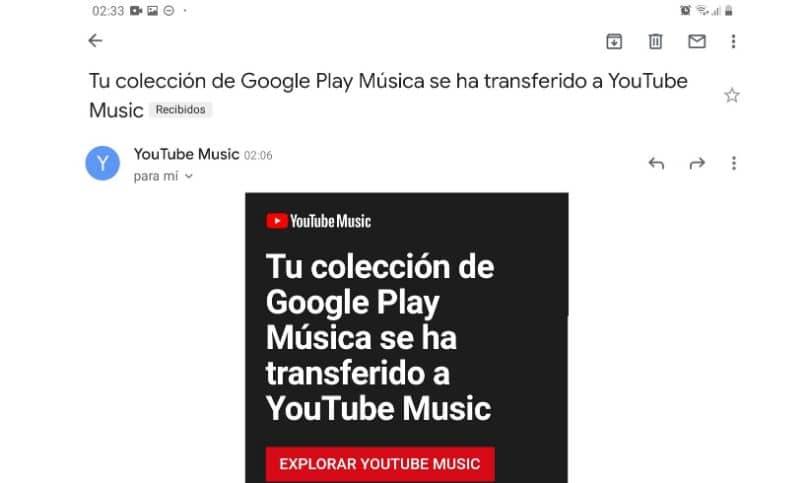 correo transferencia biblioteca youtube music