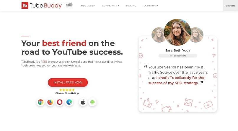 pagina oficial de tubebuddy para descargar la extension o la aplicacion
