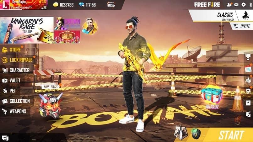 jugador free fire