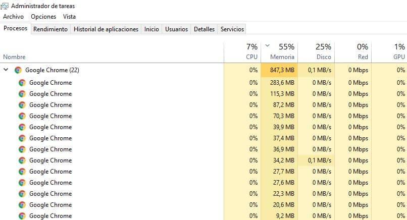 chrome 32 64 bits administrador tareas