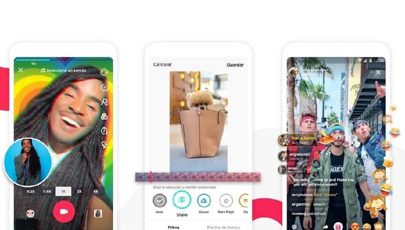 diferentes videos app tiktok fondo pantalla celular