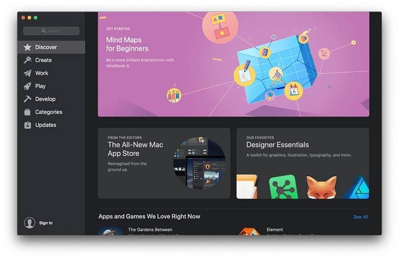 vista previa de mac app store