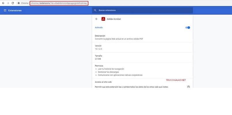 pagina web extensiones google