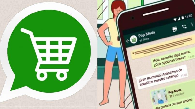 opcion del carrito de compras en whatsapp