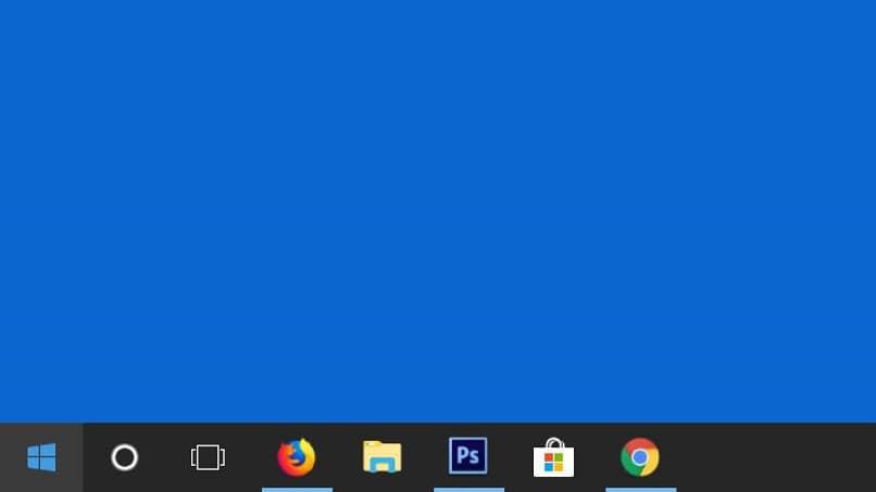 ventana de windows 10 con barra de tareas