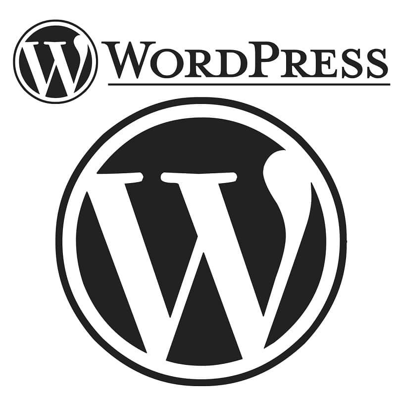 imagen con el logo de la plataforma wordpress