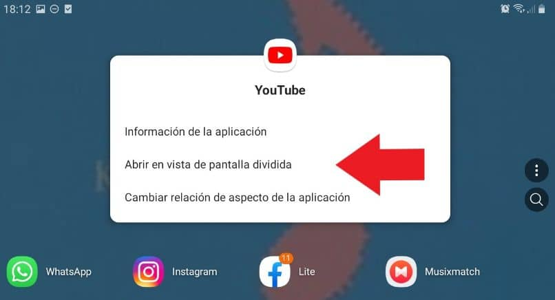 pantalla dividida android youtube